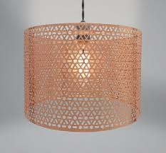 geo copper round ceiling light shades