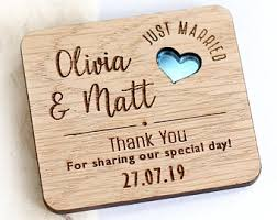 Rustic Thank You Wedding Favours, Thank You Wedding Magnets, Wooden Wedding  Favors, Wooden