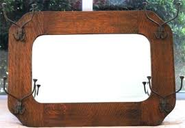 Antique Coat Rack With Mirror