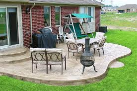 plain concrete patio. Stamped Concrete, Exposed Aggregate And Plain Concrete Patios Patio S