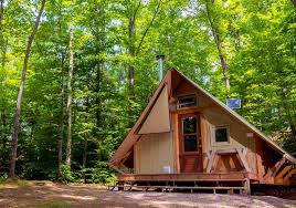 cabin camping in the woods. Cabin Camping In The Woods