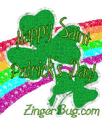 Small Picture Glitter Rainbow With Shamrock Glitter Graphic Greeting Comment