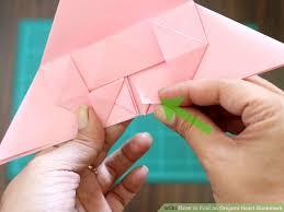 image led fold an origami heart bookmark step 14