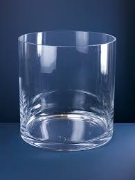 large cylinder glass vase