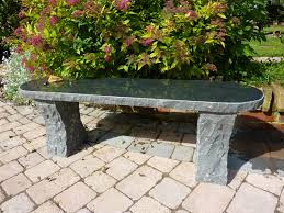 image of granite ideas stone garden bench