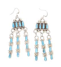 old turquoise chandelier earrings