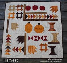 Celebrate Autumn With 7 Pumpkin Quilt Patterns & Harvest Elm Street Quilts Adamdwight.com