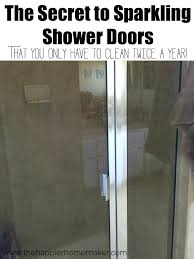 clean shower doors the secret to sparkling shower doors that you only have to clean twice a year clean shower doors windex