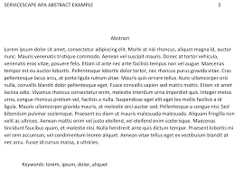 The Basic Format Of An Apa Abstract With Examples