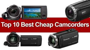 Canon Camcorder Comparison Chart 10 Best Cheap Camcorders Compare Buy Save