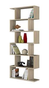 venice open back oak effect bookcase