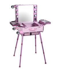 Beauty Station With Lights Us 208 39 9 Off Popular Aluminum Makeup Station With Lighted Mirror And Removable Wheels Makeup Case With Lights Mirror And Leg In Cosmetic Bags