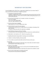 Resume Tips Psychology Cognitive Science Cognition