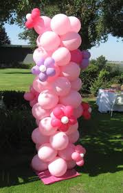 Columns For Decorations Flower Balloon Column Flowers Ideas
