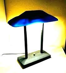 vintage bankers desk lamp banker desk lamp vintage bankers traditional blue green shade l