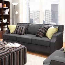 Broadway Dark Grey Fabric Sloped Track Arm Sofa by INSPIRE Q by iNSPIRE Q