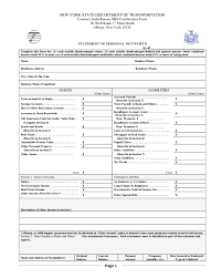 Networth Form 2018 Net Worth Statement Form Fillable Printable Pdf Forms