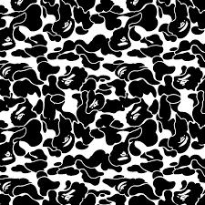 Bape Pattern Beauteous Bape Camo Vinyl Stencil Overspray Collection