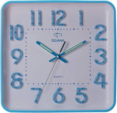 dojana wall clock dw268 light blue white
