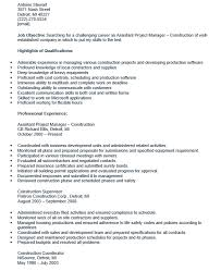 assistant project manager resume 5 assistant project manager job description