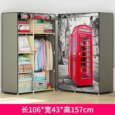 fabric hostel folding steel frame wardrobe