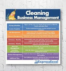 House Cleaning Flyer Template Unique Home Or Commercial Cleaning Business Management Excel Spreadsheet To