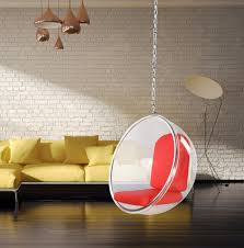 hanging bubble chair red