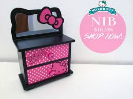 make up o kitty anese jewelry box make up box makeup bag mirror drawer dorm room home decor home decor home decor agers