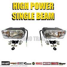 boss snow plow lights ebay Meyers Snow Plow Lights Wiring Diagram new universal halogen snow plow lights pair western boss meyer fisher 81091 meyer snow plow lights wiring diagram