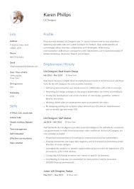 Killer Ux Design Pdf Ux Designer Resume Example Template Sample Cv Formal