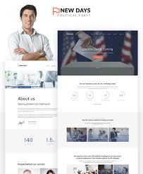 Political Website Templates Freedom Political Party Multipage Html Website Template