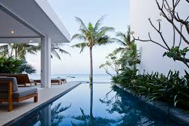 Infinity pool beach house Mountain Home Trendir Oceanique Villas Infinity Pools And Sandy Beaches