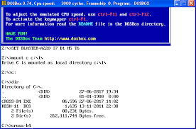 Copy Screen Windows Fig Ap 2 The Copy Of The Screen Of The Dosbox Window On The