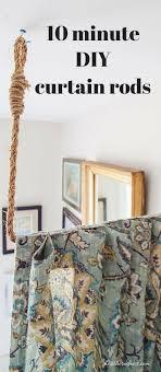 AKA Build a DIY Curtain Rod in 10 minutes