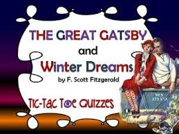 best teaching the great gatsby images glitter  the great gatsby and winter dreams tic tac toe quizzes