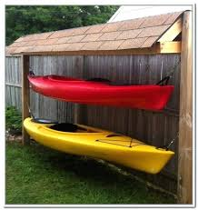 outdoor kayak rack storage ideas more design pvc