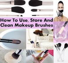 how to use and clean makeup brushes