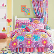 Polka Dot Bedroom Decor Bedroom Minimalist Colorful Theme Kids Bed Decorating With Purple