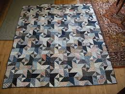 97 best Quilts made with the Accuquilt Go Cutter images on ... & Blue star quilt made using Accuquilt GO cutter chisel die and triangle die Adamdwight.com