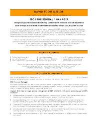 Sample Seo Resume Digital marketing resume sample seo manager page 24 24 current 1