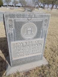 Ida Kelley Henderson (1866-1932) - Find A Grave Memorial