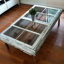 Old window or door frame. Great idea for DIY coffee table !