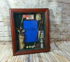 golf office decor. Golf Shadow Box Photo Frame Wall /Tabletop Home Office Decor Golfer Sports NWT