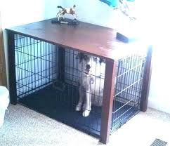 pet crate table wood