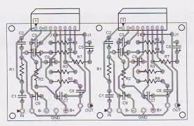 tda watt audio amplifier circuit 2 chip 40w audio amplifier stereo parts