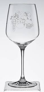 may basket etched wine glasses set of 2