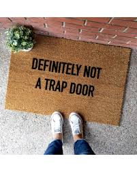 THE ORIGINAL definitely not a trap door doormat 18x30 funny doormats cute  doormats cute welcome mats