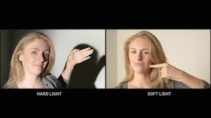 Image result for hard light vs soft light