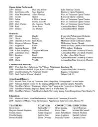 Performance Resume Stunning Performance Resume Anna Eschbach Soprano