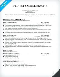 Examples Of Resume For Job Awesome Floral Designer Resume Floral Design Resume Best Resume Collection